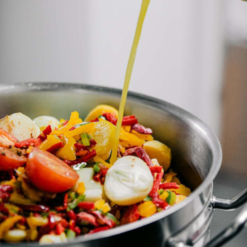 Kochtopf mit Gemüse