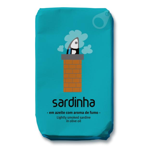 sardinen leicht geraeuchert in olivenoel von sardinha