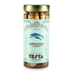 Makrelenfilet in Bio-Sonnenblumenöl kaltgepresst, Testa